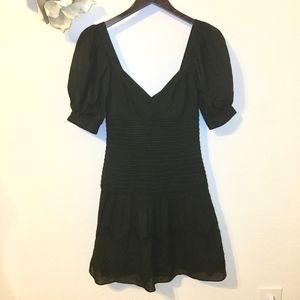 C Malandrino LBD Embroidered Sweetheart Dress